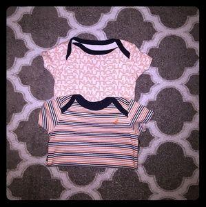 Baby unisex Nautica onesie lot of 2 sizes 0-3m